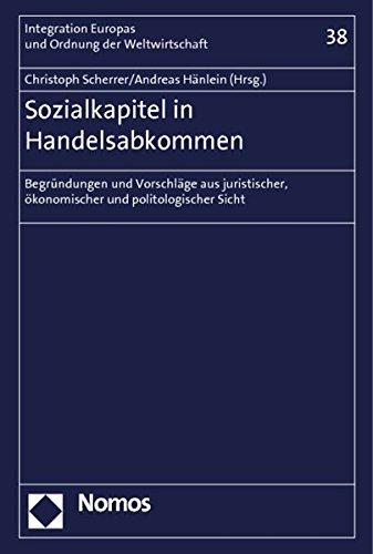 Sozialkapitel in Handelsabkommen: Andreas H�nlein