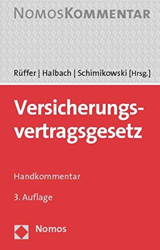 9783832965334: Versicherungsvertragsgesetz: Handkommentar (German Edition)