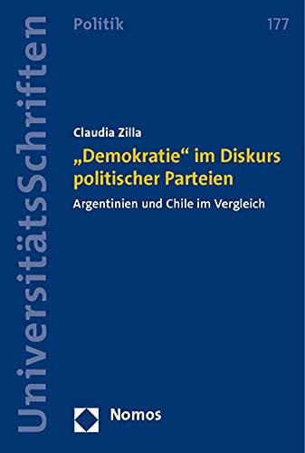 "Demokratie"" im Diskurs politischer Parteien: Claudia Zilla"