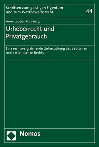Urheberrecht und Privatgebrauch: Anne Lauber-Rönsberg
