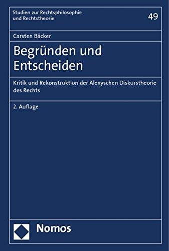 Begründen und Entscheiden: Carsten Bäcker
