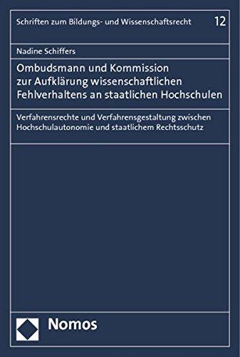 Ombudsmann und Kommission zur Aufklärung wissenschaftlichen Fehlverhaltens an staatlichen ...