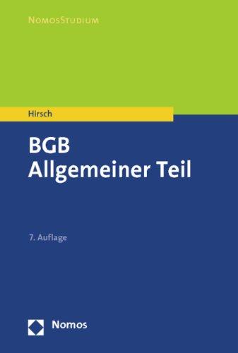 9783832970123: BGB: Allgemeiner Teil