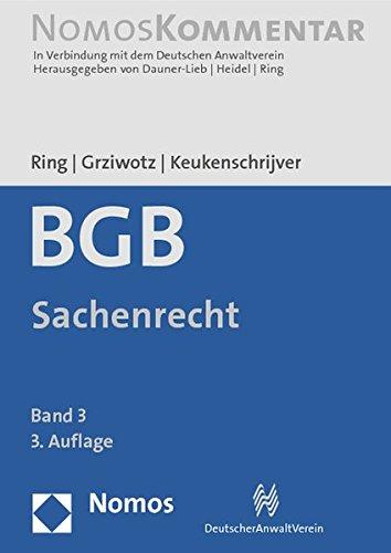 9783832970888: Burgerliches Gesetzbuch: Sachenrecht (German Edition)