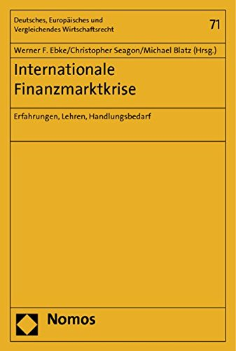 Internationale Finanzmarktkrise: Werner F. Ebke