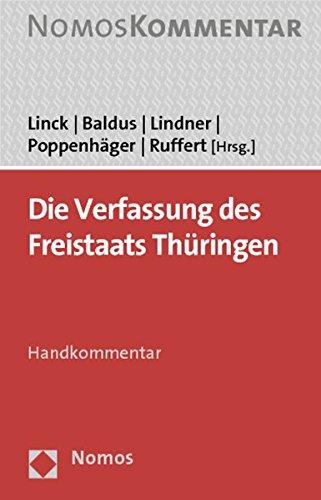 Die Verfassung des Freistaats Thüringen: Joachim Linck