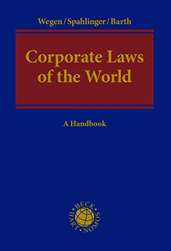 9783832972660: Corporate Laws of the World: A Handbook