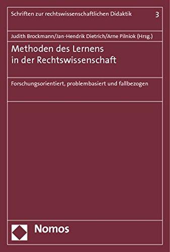 Methoden des Lernens in der Rechtswissenschaft: Judith Brockmann
