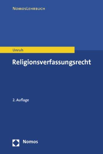 9783832973490: Religionsverfassungsrecht