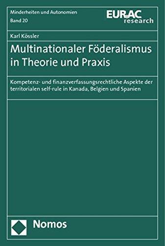 9783832974480: Multinationaler Föderalismus in Theorie und Praxis