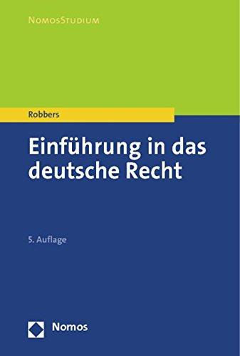 9783832974862: Einfuhrung in Das Deutsche Recht