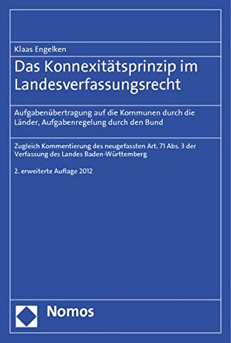 Das Konnexitätsprinzip im Landesverfassungsrecht: Klaas Engelken