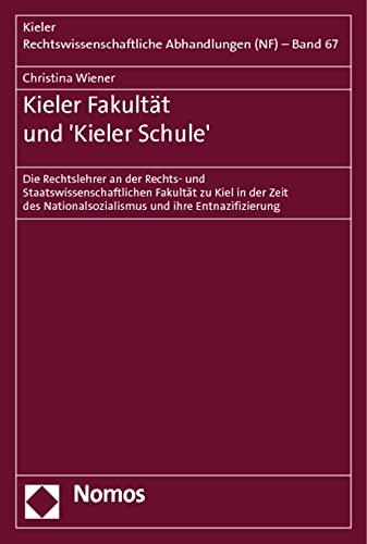 Kieler Fakultät und 'Kieler Schule': Christina Wiener
