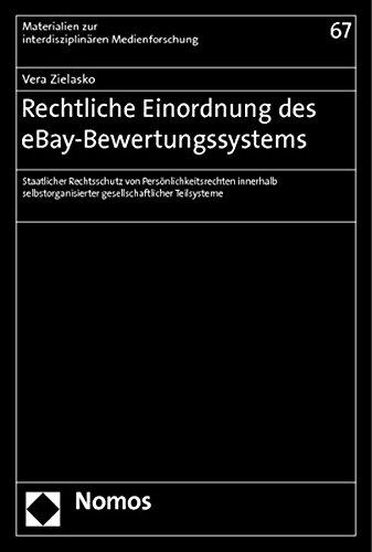 Rechtliche Einordnung des eBay-Bewertungssystems: Vera Zielasko
