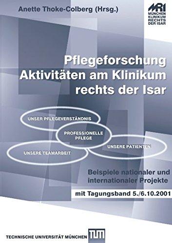 9783833005213: Pflegeforschung - Aktivitäten am Klinikum rechts der Isar: Beispiele nationaler und internationaler Projekte