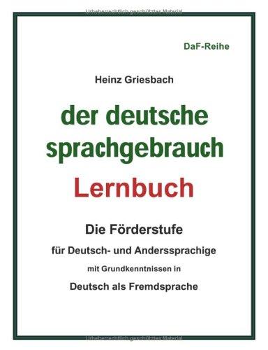 9783833005336: Der deutsche Sprachgebrauch - Lernbuch -