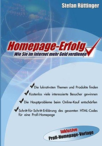 9783833006432: Homepage- Erfolg