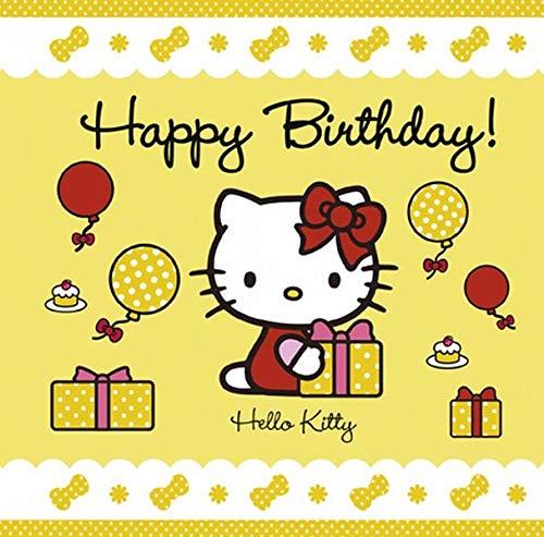 Поздравления, открытка с китти к дню рождения