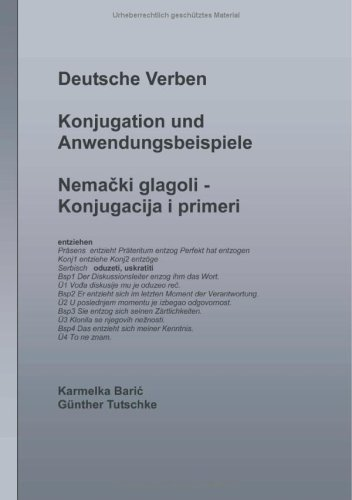 9783833409257: Deutsche Verben - Konjugation und Anwendungsbeispiele