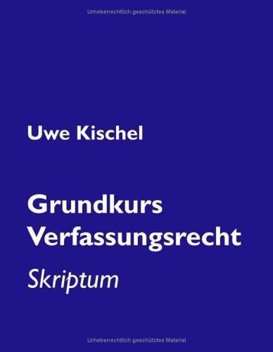 9783833414619: Grundkurs Verfassungsrecht: Skriptum