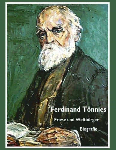 9783833429668: Ferdinand T�nnies: Friese und Weltb�rger