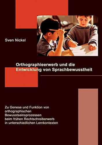 9783833449314: Orthographieerwerb und die Entwicklung von Sprachbewusstheit