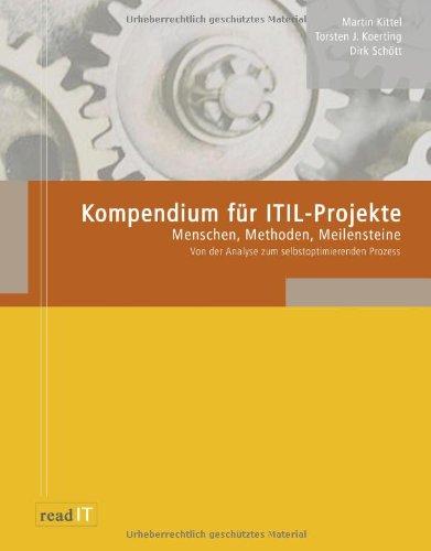 9783833454110: Kompendium für ITIL-Projekte: Menschen, Methoden, Meilenstein - Von der Analyse zum selbstoptimierenden Prozess