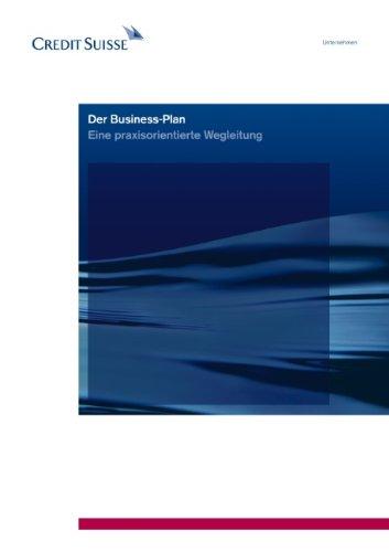 9783833487019: Der Business-Plan: Eine praxisorientierte Wegleitung