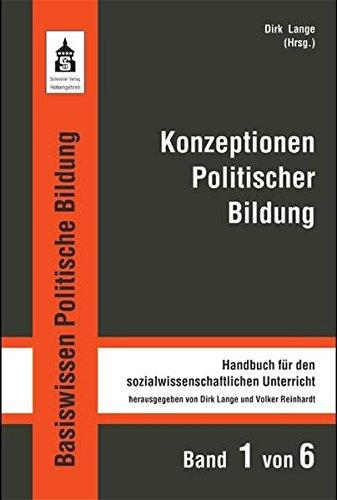 9783834002068: Konzeptionen Politischer Bildung: Handbuch für den sozialwissenschaftlichen Unterricht