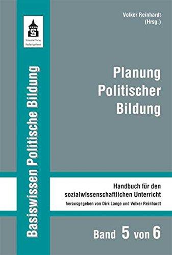 9783834002105: Planung Politischer Bildung: Handbuch für den sozialwissenschaftlichen Unterricht