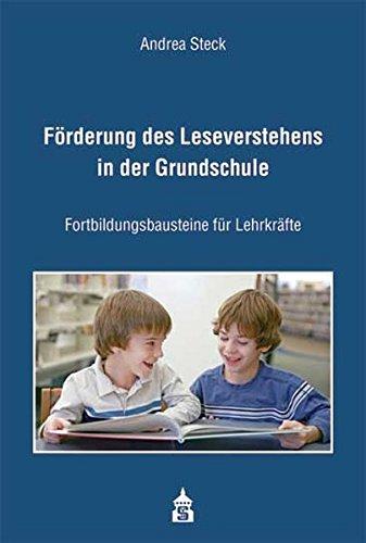 9783834005885: Förderung des Leseverstehens in der Grundschule: Fortbildungsbausteine für Lehrkräfte