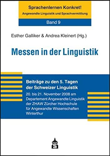 9783834007186: Messen in der Linguistik