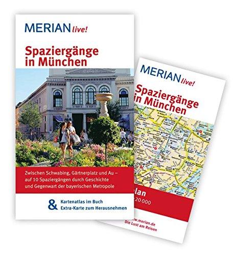 9783834215239: Spaziergänge in München: MERIAN live! - Mit Kartenatlas im Buch und Extra-Karte zum Herausnehmen