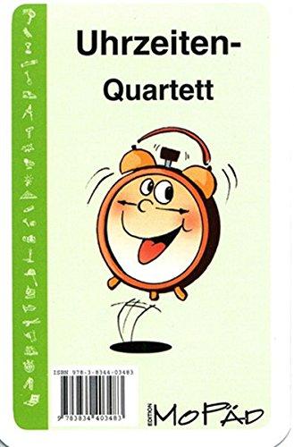 Das Uhrzeiten-Quartett: Kartenspiel für die 1. und 2. Klasse: M�ller, Heiner