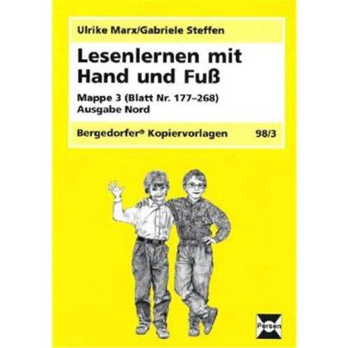 9783834421159: Lesenlernen mit Hand und Fuß, Ausgabe Nord, 3 Mappen