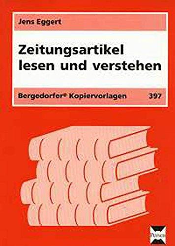 9783834426116: Zeitungsartikel lesen und verstehen: 5. - 7. Schuljahr