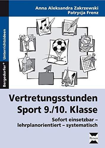 9783834433343: Vertretungsstunden Sport 9./10. Klasse