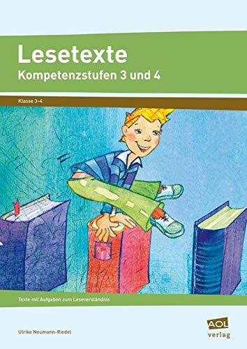 9783834455239: Lesetexte Kompetenzstufen 3 und 4: Texte mit Aufgaben zum Leseverständnis. Klasse 3-4