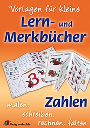 9783834602626: Vorlagen für kleine Lern- und Merkbücher - Zahlen: Malen, Schreiben, Lesen, Falten