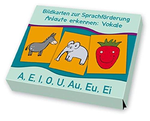 9783834608192: Anlaute erkennen: Vokale: A, E, I, O, U, Au, Eu, Ei. Bildkarten zur Sprachförderung