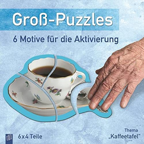9783834623478: Groß-Puzzles: 6 Motive für die Aktivierung von Demenzkranken: Thema Kaffeetafel