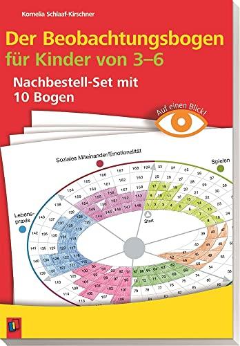 9783834625427: Auf einen Blick! Der Beobachtungsbogen für Kinder von 3-6: Nachbestellset mit 10 Bogen