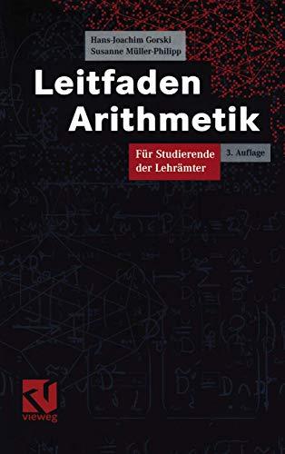 9783834800909: Leitfaden Arithmetik