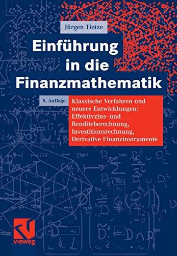 9783834800930: Einführung in die Finanzmathematik (German Edition)