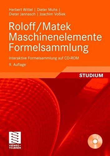 9783834805348: Roloff / Matek Maschinenelemente Formelsammlung