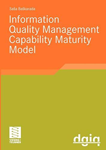 9783834809858: IQM-CMM: Information Quality Management Capability Maturity Model (Ausgezeichnete Arbeiten zur Informationsqualität)