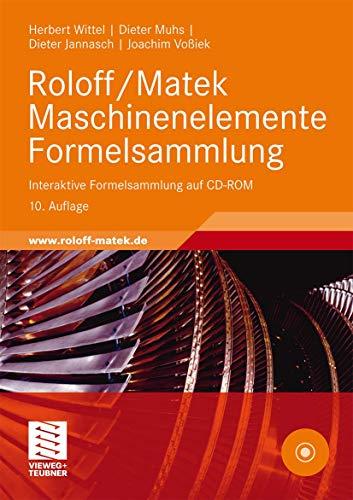 9783834813282: Roloff/Matek Maschinenelemente Formelsammlung: Interaktive Formelsammlung auf CD-ROM (German Edition)
