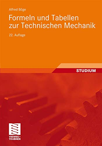 9783834814456: Formeln und Tabellen zur Technischen Mechanik