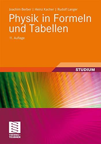 9783834814975: Physik in Formeln und Tabellen (German Edition)