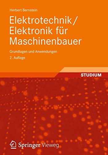 9783834816061: Elektrotechnik/Elektronik für Maschinenbauer: Grundlagen und Anwendungen (German Edition)